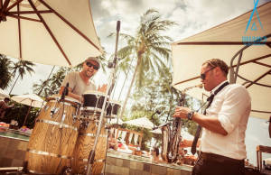 Live Percussion and Saxophone